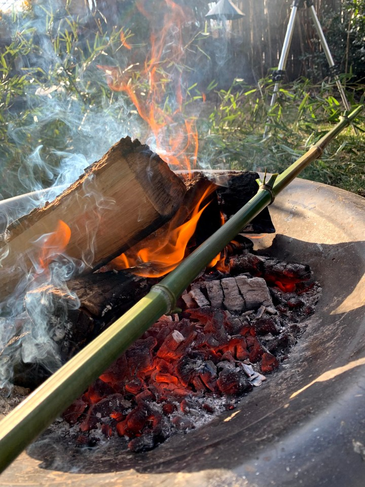 How to fire cure bamboo in your backyard